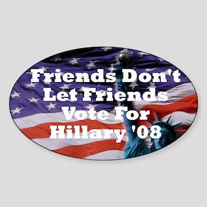 Hillary/Kennedy Oval Sticker