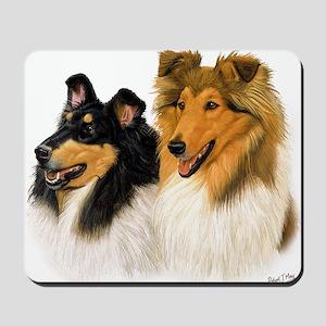 Rough Collie blanket Mousepad