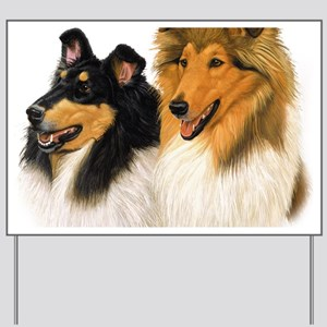 Rough Collie blanket Yard Sign