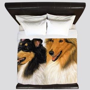 Rough Collie blanket King Duvet