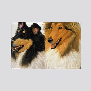 Rough Collie blanket Rectangle Magnet