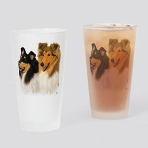 Rough Collie blanket Drinking Glass