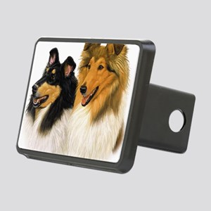 Rough Collie blanket Rectangular Hitch Cover