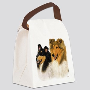 Rough Collie blanket Canvas Lunch Bag