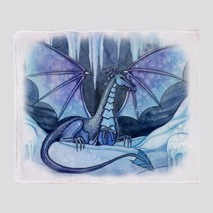 ice dragon transparent back Throw Blanket