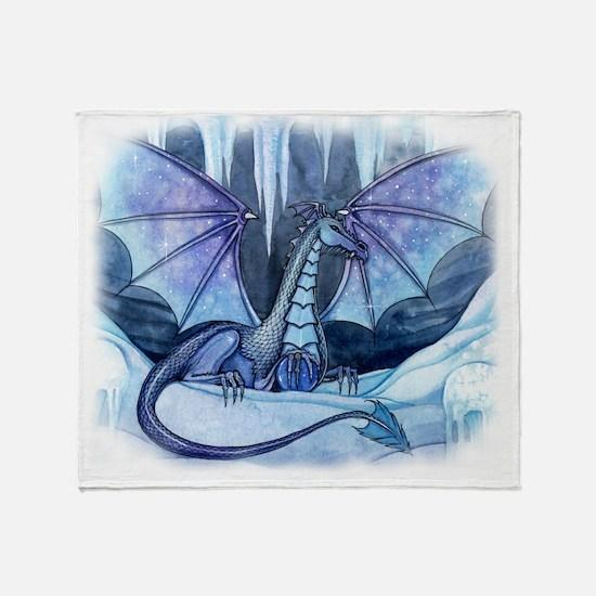 ice dragon transparent back Throw Blanket