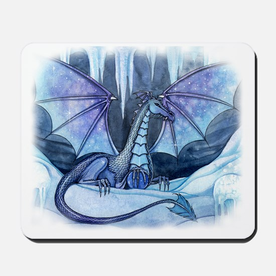 ice dragon transparent back Mousepad