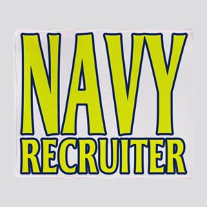 navyrecruitergoldblue Throw Blanket