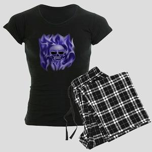 scull t-shirt blue cp ts Women's Dark Pajamas