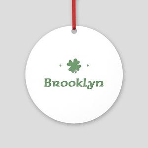 """""""Shamrock - Brooklyn"""" Ornament (Round)"""