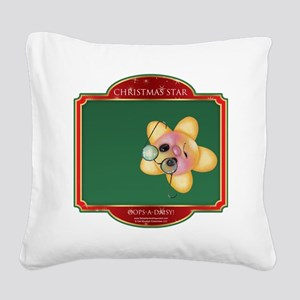 Oops-a-daisy Star - Christmas Square Canvas Pillow