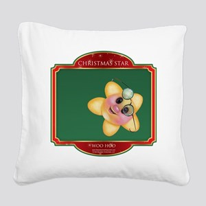 Woo Hoo Star - Christmas Star Square Canvas Pillow
