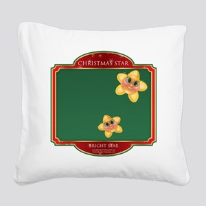 Bright Star - Christmas Star Square Canvas Pillow