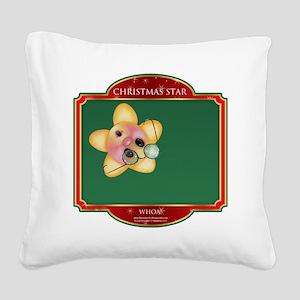 Whoa Star - Christmas Star Square Canvas Pillow