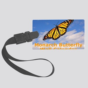 Monarch Butterfly Wall Calendar Large Luggage Tag