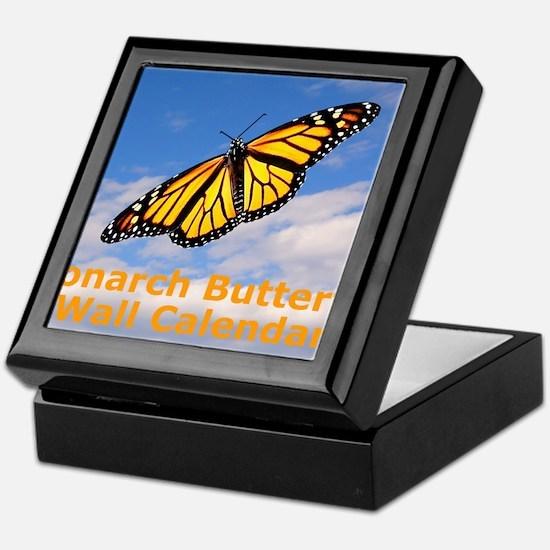 Monarch Butterfly Wall Calendar Keepsake Box