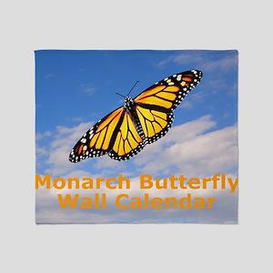 Monarch Butterfly Wall Calendar Throw Blanket