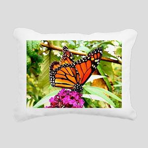 Monarch Butterfly Wall C Rectangular Canvas Pillow