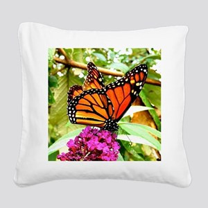 Monarch Butterfly Wall Calend Square Canvas Pillow