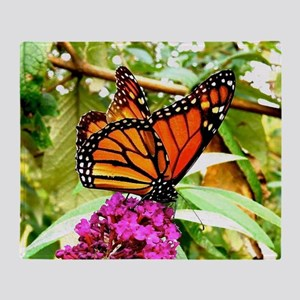 Monarch Butterfly Wall Calendar Page Throw Blanket