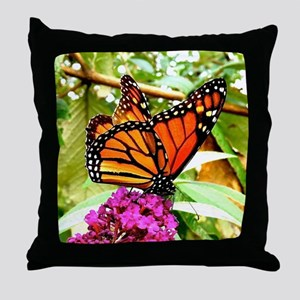 Monarch Butterfly Wall Calendar Page, Throw Pillow