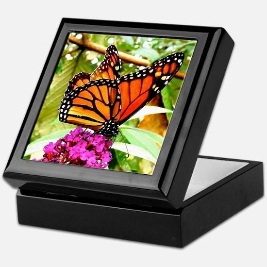 Monarch Butterfly Wall Calendar Page, Keepsake Box