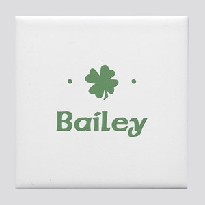 """Shamrock - Bailey"" Tile Coaster"
