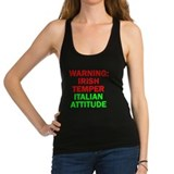 Warning irish temper italian attitude Tank Top