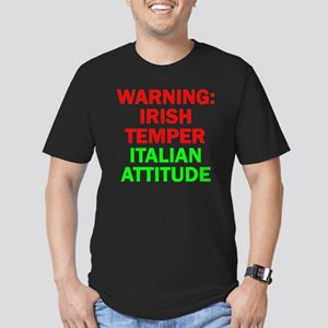 WARNINGIRISHTEMPER ITA Men's Fitted T-Shirt (dark)