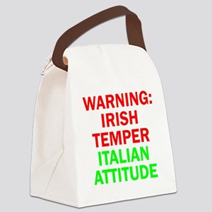 WARNINGIRISHTEMPER ITALIAN ATTITU Canvas Lunch Bag