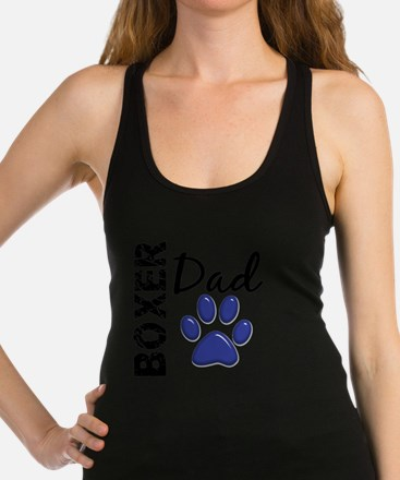 D Boxer Dad 2 Racerback Tank Top