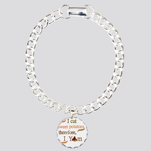 Sweet Potatoes Charm Bracelet, One Charm
