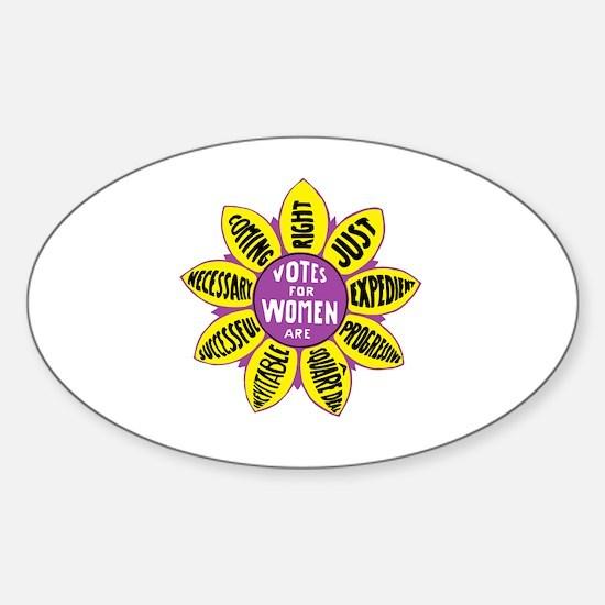 Cute Feministing logo Sticker (Oval)