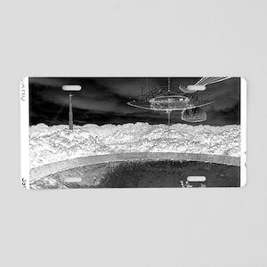 Alien Inversion Poster Aluminum License Plate