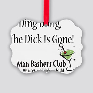 ding dong full slogan Picture Ornament