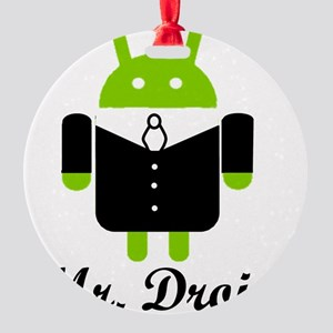 Mr. Droid Round Ornament