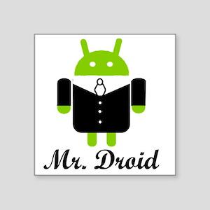 """Mr. Droid Square Sticker 3"""" x 3"""""""