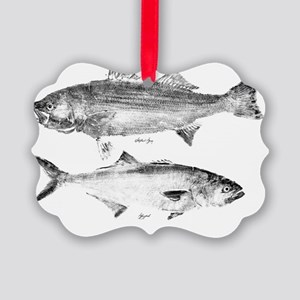striperand bluefish Picture Ornament