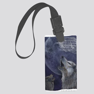wolves_howl Large Luggage Tag