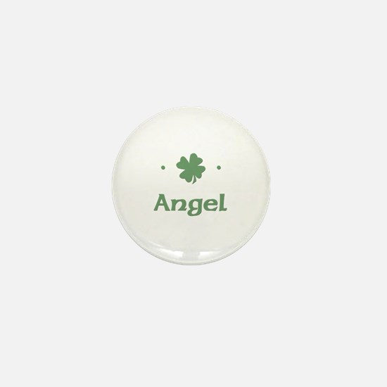 """Shamrock - Angel"" Mini Button"