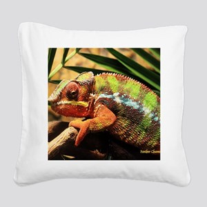 Panther Chameleon Mousepad Square Canvas Pillow