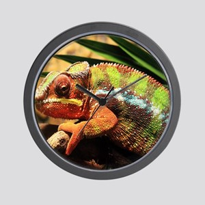 Panther Chameleon Mousepad Wall Clock