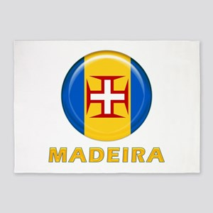 Madeira islands flag 5'x7'Area Rug