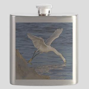 Snowy Egret Mousepad Flask