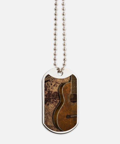 Acoustic guitar journal Dog Tags