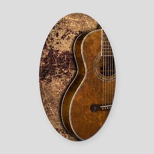 Acoustic guitar journal Oval Car Magnet