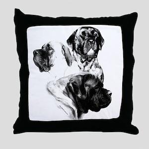 Charcoal 25 Throw Pillow