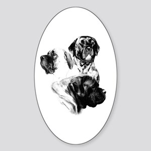 Charcoal 25 Oval Sticker