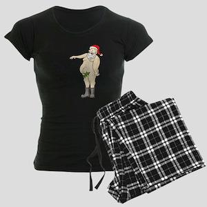 Santa-Hang Out 1 Women's Dark Pajamas