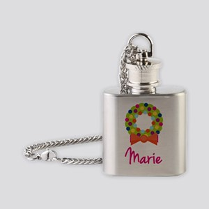 Christmas-wreath-Marie Flask Necklace